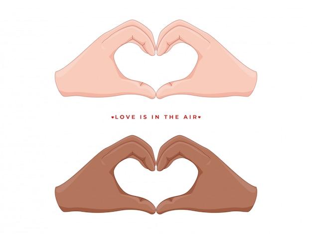 Mains humaines formant une forme de coeur