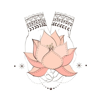 Mains avec lotos