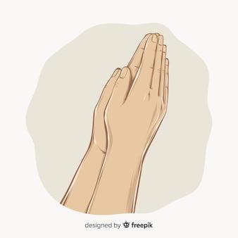 Mains de prière réalistes