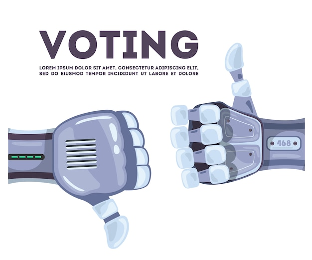 Mains de robot votant