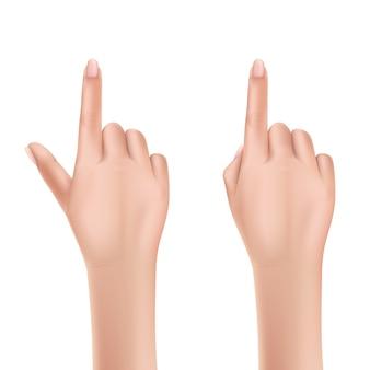 Mains de vecteur humain