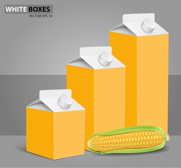 Maïs: boîtes en carton