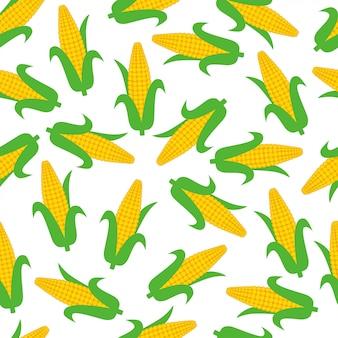 Maïs seamless pattern background vector design
