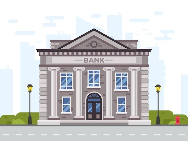 Maison d'affaires d'architecture en ville