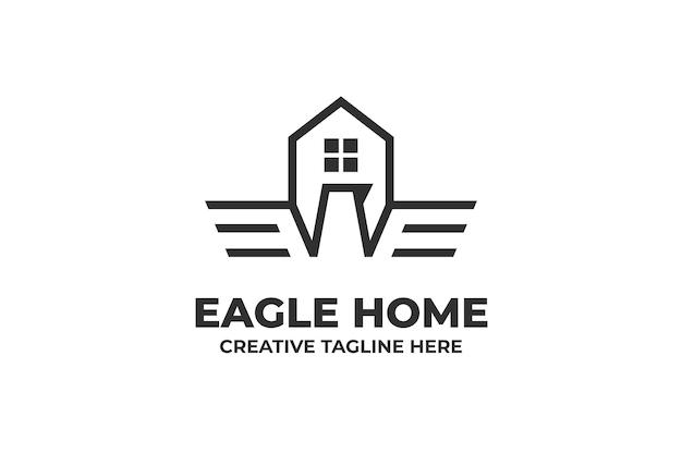 Maison aigle bâtiment architecture logo entreprise