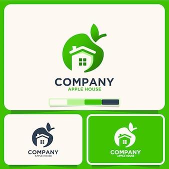 Maison d'apple, produit naturel, inspiration de conception de logo