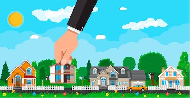 Maison de banlieue privée. immobilier
