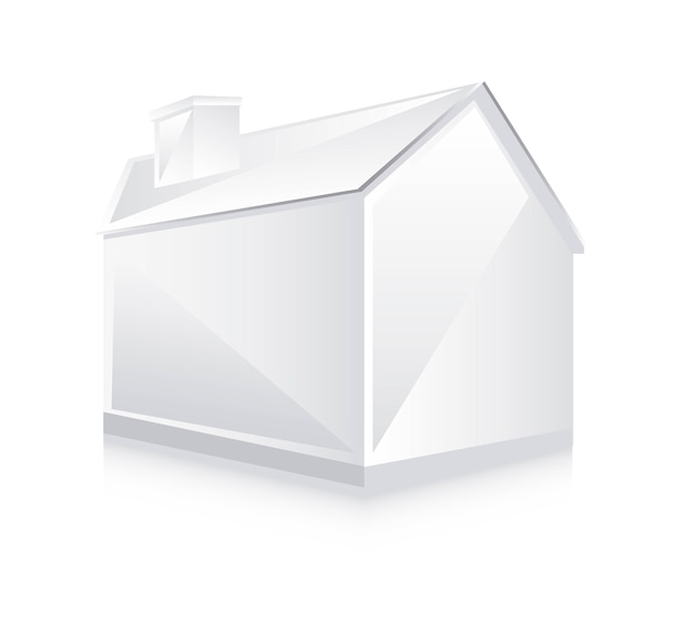 Maison blanche 3d, illustration vectorielle