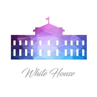 Maison blanche monument polygon logo