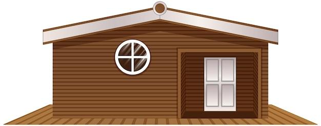 Maison en bois sur plancher en bois