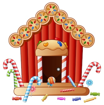 Maison de bonbons pain d'épice