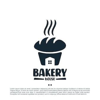 Maison de boulangerie, inspiration de conception de logo