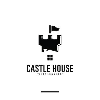 Maison de château, inspiration de conception de logo