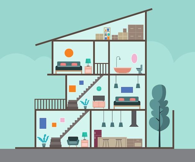 Maison en coupe