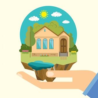 La maison dans les mains