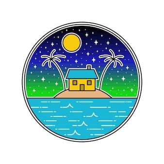 Maison dans la mer monoline