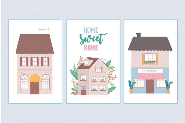 Maison douce maison, maisons résidentielles architecture urbaine quartier rue