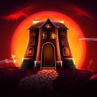 Maison du festival d'halloween
