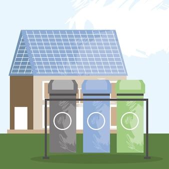 Maison avec énergie solaire