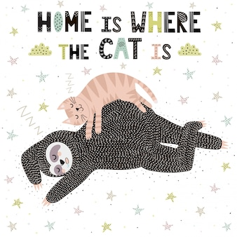 La maison est où le chat est