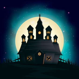 Maison d'halloween réaliste