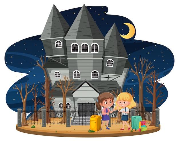 Maison hantée la nuit