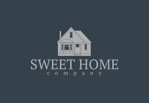 Maison d'icône plate pour logo. illustration vectorielle.