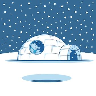 Maison igloo