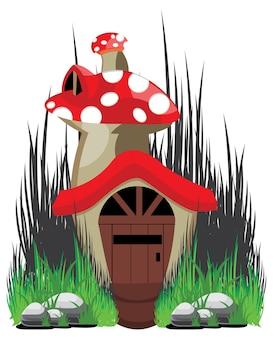 Maison d'illustration de champignon