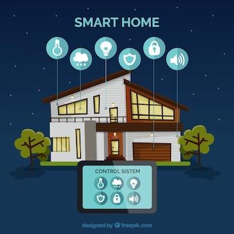 Maison intelligente avec contrôle du smartphone