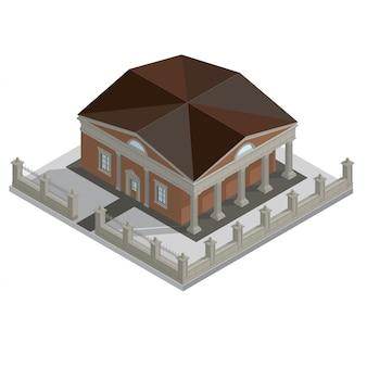 Maison isométrique de vecteur
