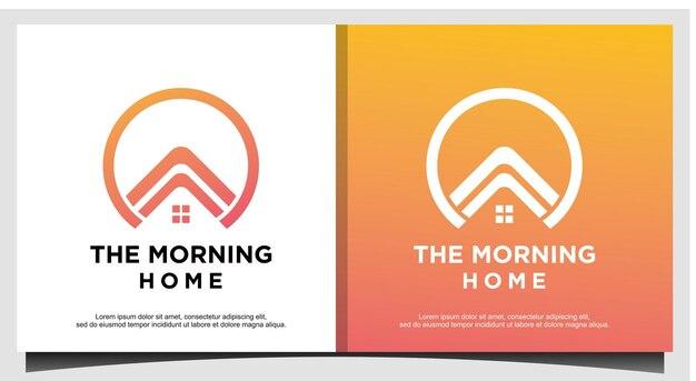 Maison, luxe immobilier avec vecteur de conception de logo d'art en ligne