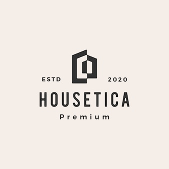 Maison maison hypothèque toit architecte hipster vintage logo icône illustration