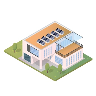 Maison moderne isométriques