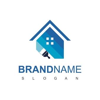 Maison peinture logo desig vector