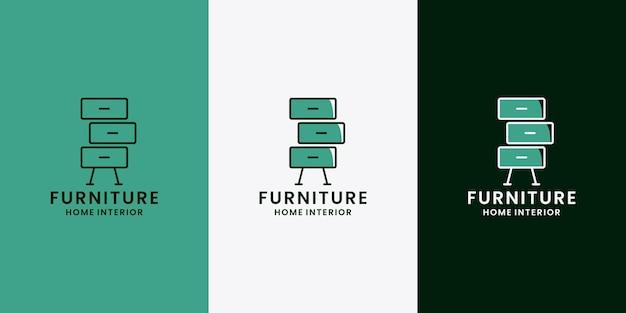 Maison de propriété de conception de logo d'intérieur de meubles