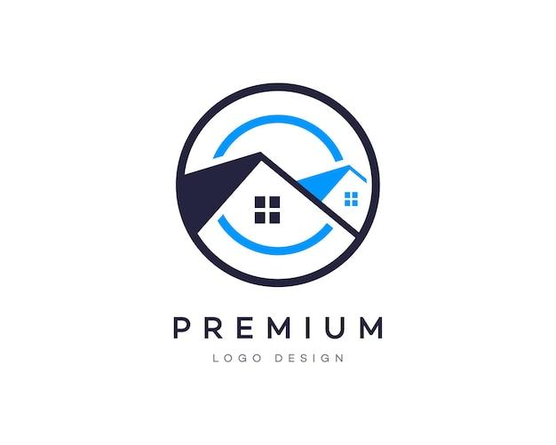 Maison De Style Dégradé Attrayant Ou Maison Propriété Immobilière Entreprise Création De Logo Vectoriel Vecteur Premium