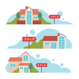 Maison à vendre illustration concept