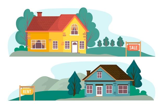 Maison à vendre illustration