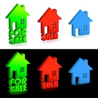 Maison à vendre et signes vendus