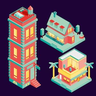 Maison de ville à trois bâtiments