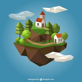 Maisons de campagne polygonales