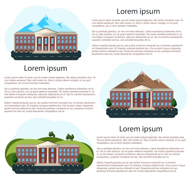Maisons avec espace de texte