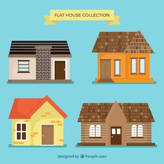 Maisons fantastiques avec de grands desseins