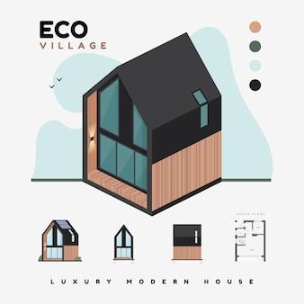 Maisons modernes de luxe.