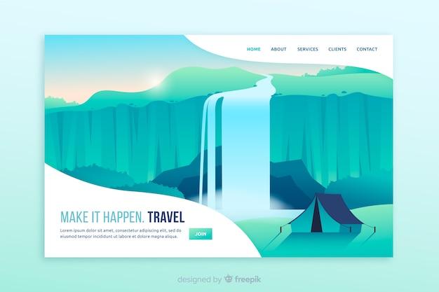 Make it happen travel page de destination