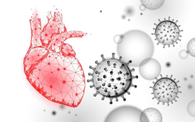 Maladie cardiaque associée aux statistiques sur les coronavirus.