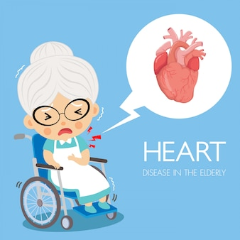 Maladie cardiaque de cardiologie chez le grand-père.