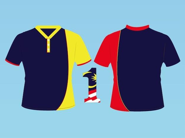 Malaisie bandes de football de vecteur t-shirt gloire