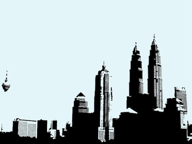 Malaisie ville bâtiments architecture urbaine